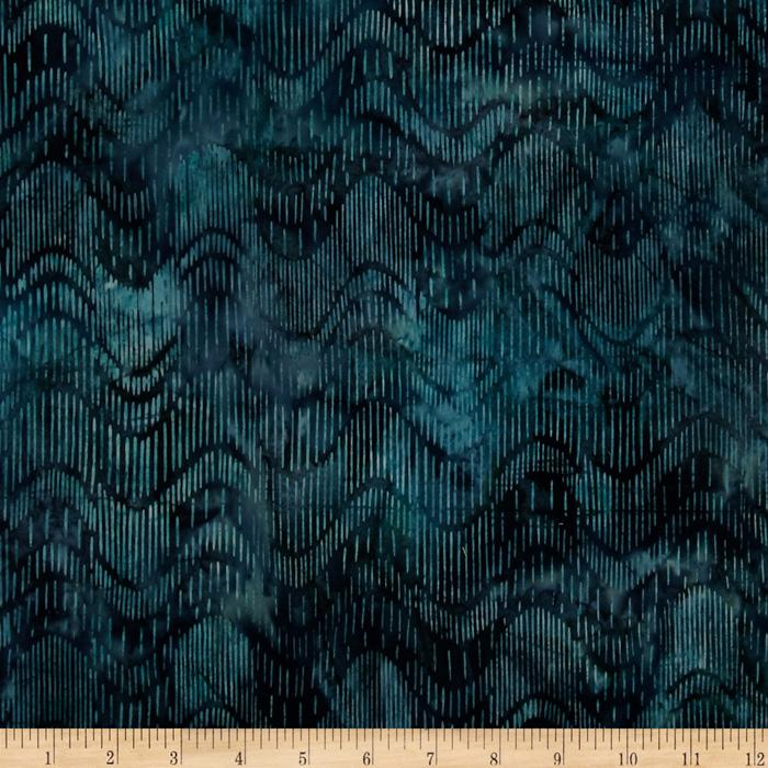 Artisan Batiks: Coventry Court Batik Waves Garden Blue