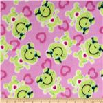 Wintry Fleece Frog Pink