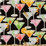 EE-458 Timeless Treasures Martinis Black