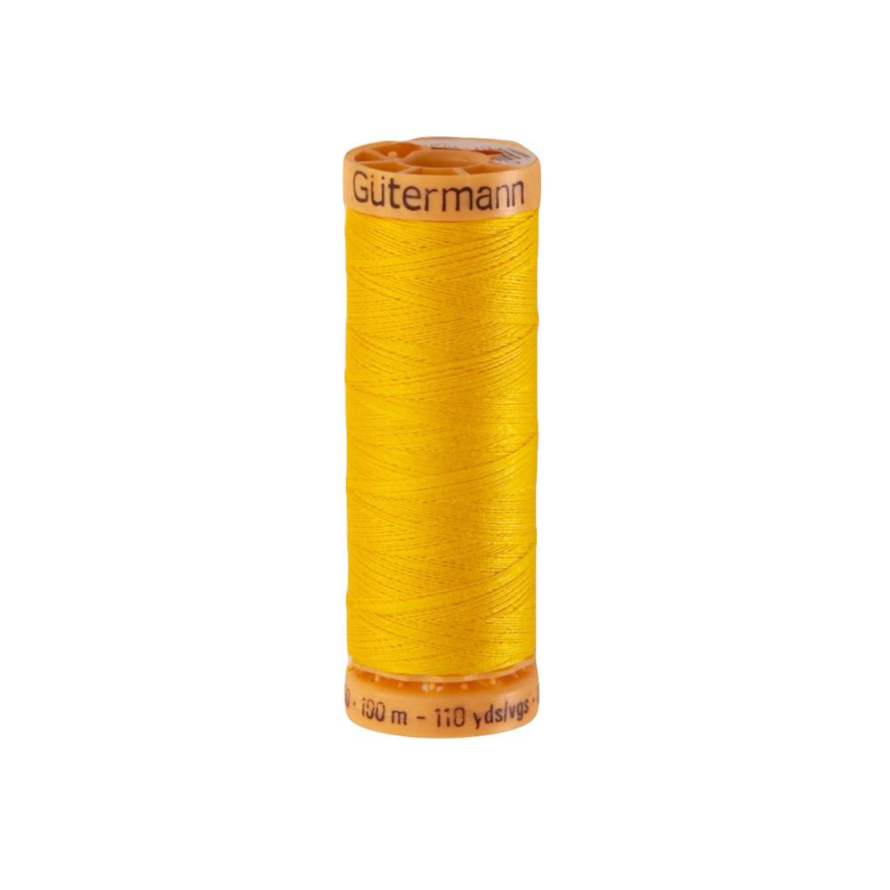 Gutermann Natural Cotton Thread 100m/109yds Bright Yellow