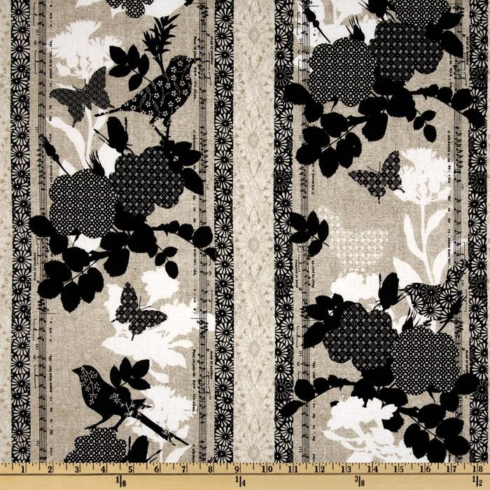 Timeless Treasures Bird Song Bird Allover Beige/Black
