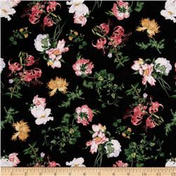 Birdsong Joy Luck Floral Black