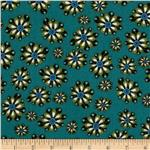 Scrollwork Floral Turquoise