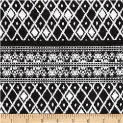 Designer Cotton Voile Diamond Black/White