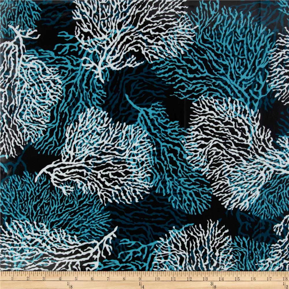 High Tide Laminated Cotton Coral Black/Teal
