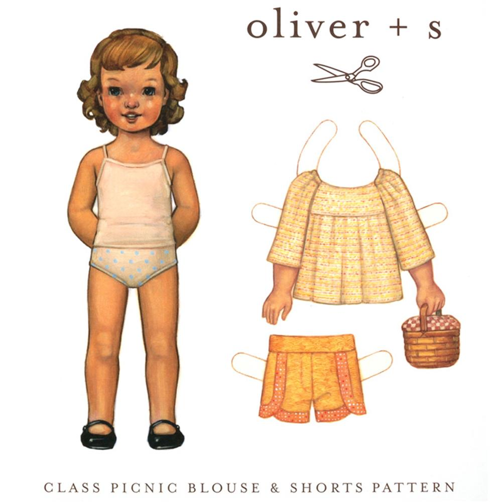 Oliver + S Class Picnic Blouse and Shorts Pattern 6M-4