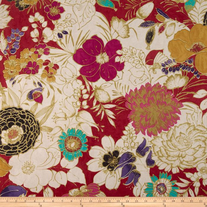 Regal Cisco Floral Microfiber Red