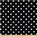 UR-163 Premier Prints Polka Dot Black/White