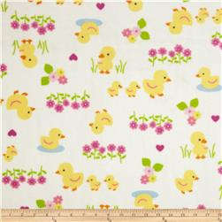 WinterFleece Baby Ducks White