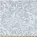 Flannel Tossed Wintery Scroll Grey