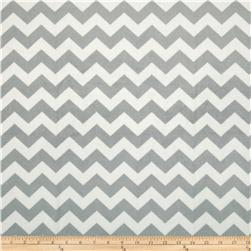 Riley Blake Dreamy Minky Medium Chevron Grey