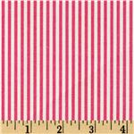 Premier Prints Desoto Stripe Candy Pink/White