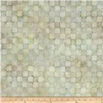 0290079 Artisan Batik Asian Legacy 3 Small Geo Plaid Meadow Natural