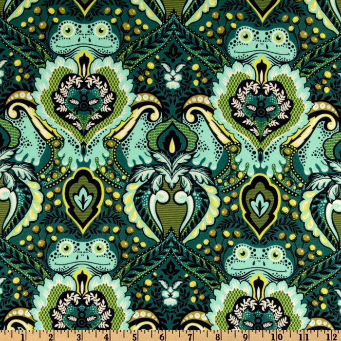 Prince Charming Laminated Cotton Frog Prince Indigo