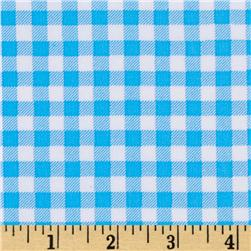 Oil Cloth Gingham Light Blue