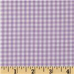Woven 1/8&#39;&#39; Gingham Lilac