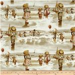 0266131 Friendship By The Sea Boy with Sailboat Sepia