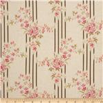True Vintage Floral Stripe Pink