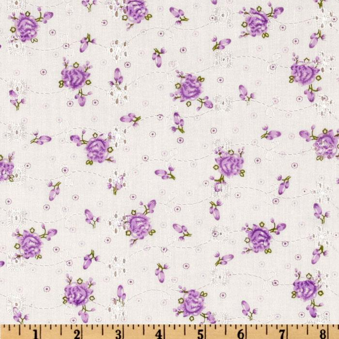 Floral Eyelet Lilac