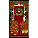 0283720 Timeless Treasures Home For the Holidays Christmas Panel Black