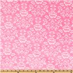 DW-150 Kaufman Minky Cuddle Victorian Damask Pink