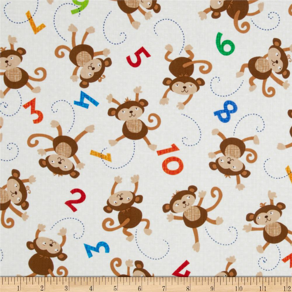 Timeless Treasures Monkeys Cream