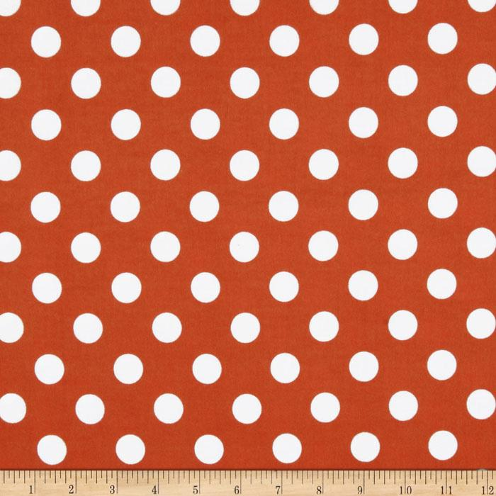 Riley Blake Flannel Basics Dots Medium Orange