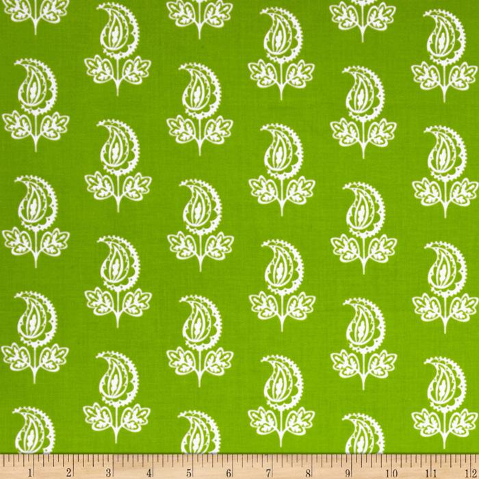 Garden Party Paisley Flower Green