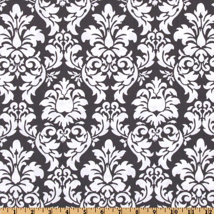 Michael Miller Dandy Damask Charcoal