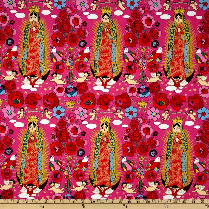 Folklorico Fiesta La Virgencita Fuchsia