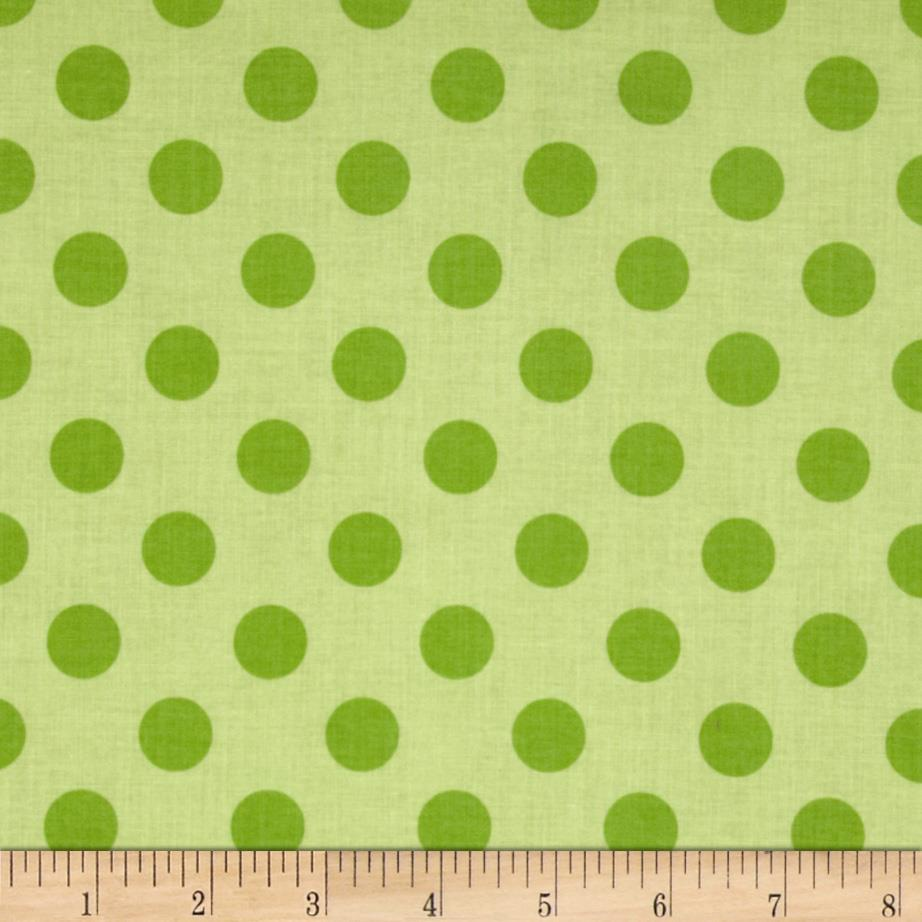 Riley Blake Medium Dots Tone on Tone Green