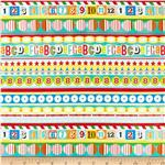 Moda Apple Jack ABC 123 Stripe Multi