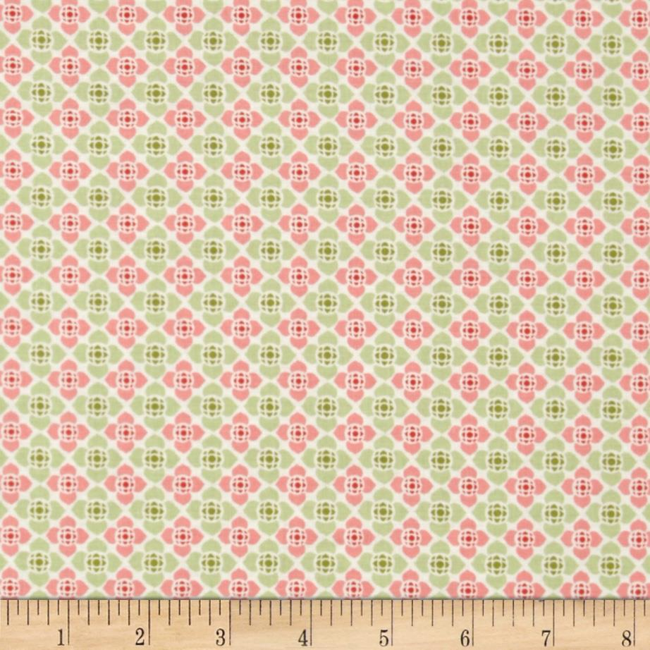 Visual Effects Geometric Flower Green/Coral