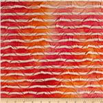 0267281 Iceland Stretch Ruffle Knit Tie Dye Stripe Sunset