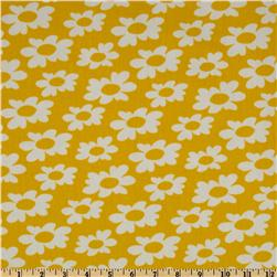 Premier Prints Wildflowers Twill Yellow