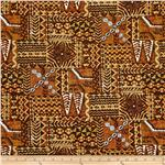 0303954 Hoffman Tropical Collection Mayan Brown