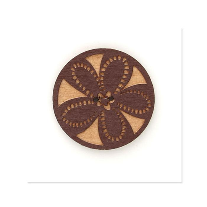 Organic Elements Wood Button 1 1/2&#39;&#39; Red
