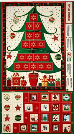 Christmas Tree Advent Calender Panel Multi