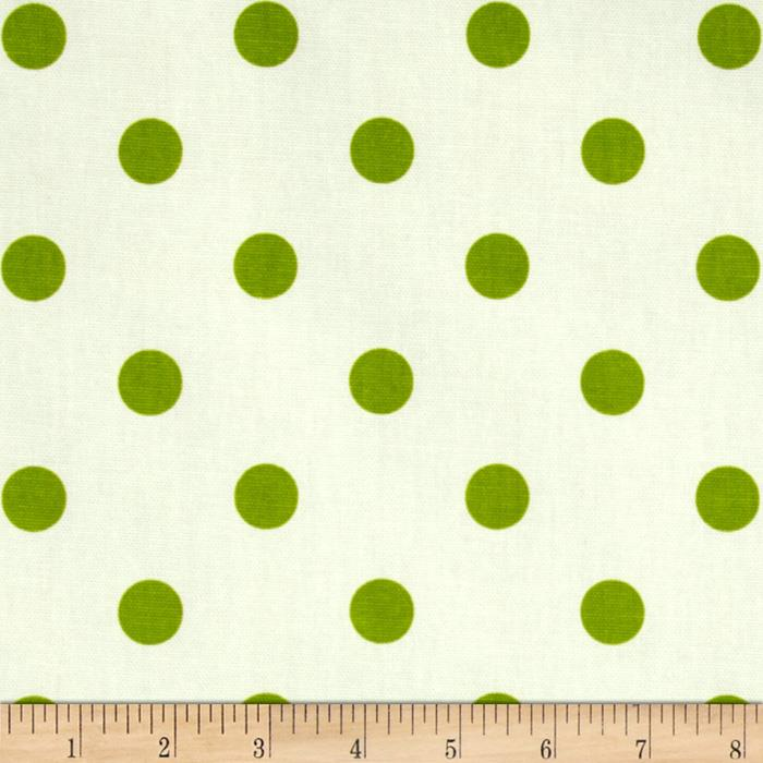 Premier Prints Polka Dots White/Chartreuse