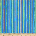 Corduroy Bear Stripe Blue