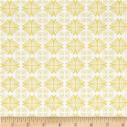 Moonflower Set Geometric White/Yellow