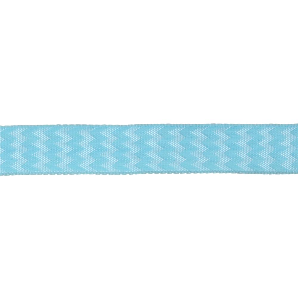 "5/8"" Chevron Stripe Wired Ribbon Light Blue"