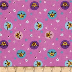 Teddy Bear Princess Flannel Crown Toss Pink