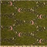 FL-774 Tula Pink Night Shade Storm Clouds Absinth Green