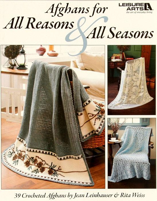 Leisure Arts &quot;Afghans for All Reasons &amp; All Seasons&quot; Book