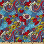 FV-483 Katharine&#39;s Wheel Floral Turquoise