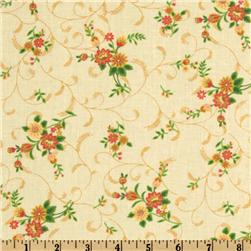 A E Nathan Floral Vines Cream