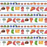 BI-252 The Very Hungry Caterpillar Stripe Picnic Treats White