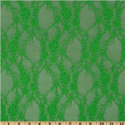 Giselle Stretch Lace Neon Green