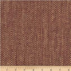 "48"" Chevron Burlap Natural/Red Wine"